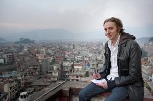 Martin Schibbye på uppdrag i Kathmandu/ Nepal 2009