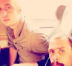 Johan och Martin på väg till Bokmässan